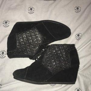 Black TOMS Suede Women's Kala Booties